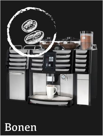 Gebruikte koffiemachine met bonen